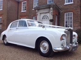 1960s Rolls Royce Silver Cloud for weddings in Tonbridge